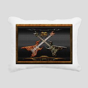 Fantastic Guitars by Blu Rectangular Canvas Pillow