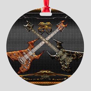 Fantastic Guitars by Bluesax Round Ornament