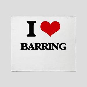 I Love Barring Throw Blanket