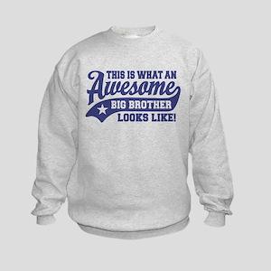 Awesome Big Brother Kids Sweatshirt