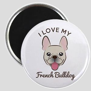 "I Love My French Bulldog 2.25"" Magnet (10 Mag"