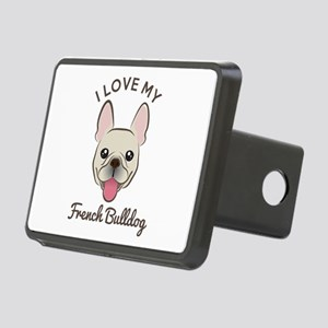 I Love My French Bulldog Rectangular Hitch Cover