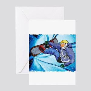 Snowboard greeting cards cafepress snowboarder in edgy snow storm greeting cards m4hsunfo Images