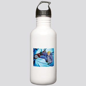 Snowboarder in Edgy Sn Stainless Water Bottle 1.0L