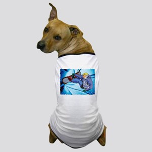 Snowboarder in Edgy Snow Storm Dog T-Shirt