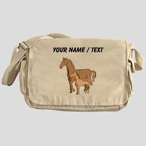 Custom Horse And Foal Messenger Bag