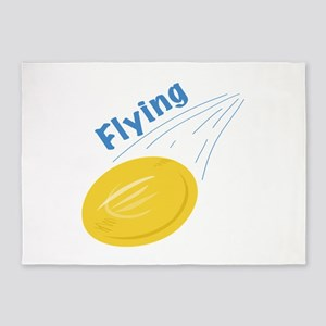 Flying Frisbee 5'x7'Area Rug