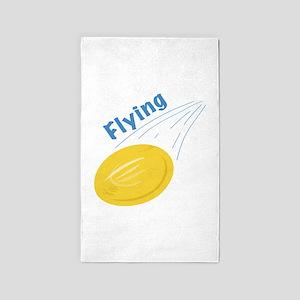Flying Frisbee Area Rug