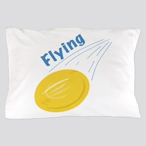 Flying Frisbee Pillow Case