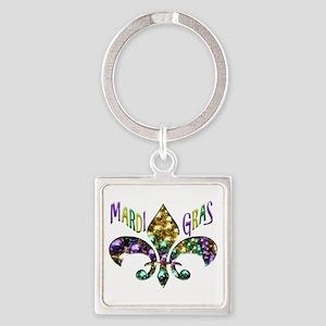 Mardi Gras Fleur Keychains