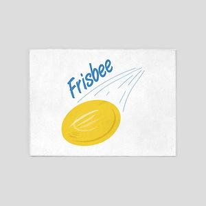 Frisbee Toss 5'x7'Area Rug