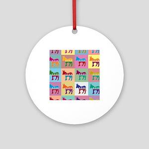 Pop Art Democrat Donkey Logo Ornament (Round)