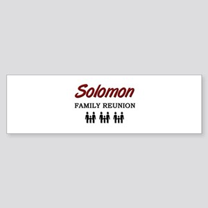 Solomon Family Reunion Bumper Sticker