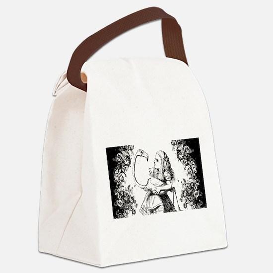 Flamingo Alice Swirls Canvas Lunch Bag