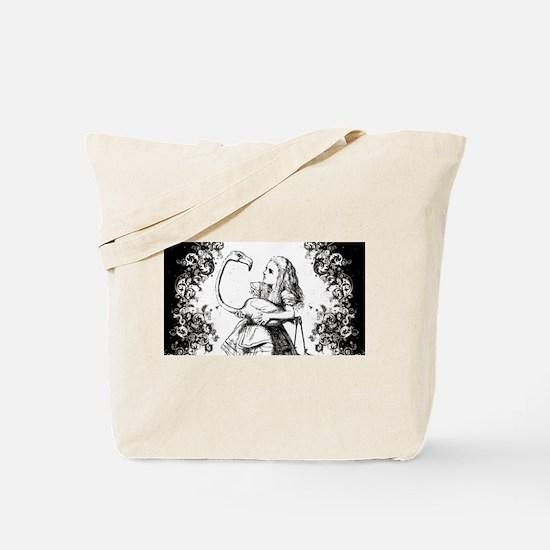 Flamingo Alice Swirls Tote Bag