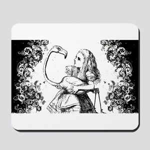 Flamingo Alice Swirls Mousepad