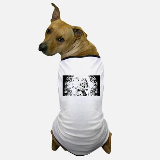 Flamingo Alice Swirls Dog T-Shirt