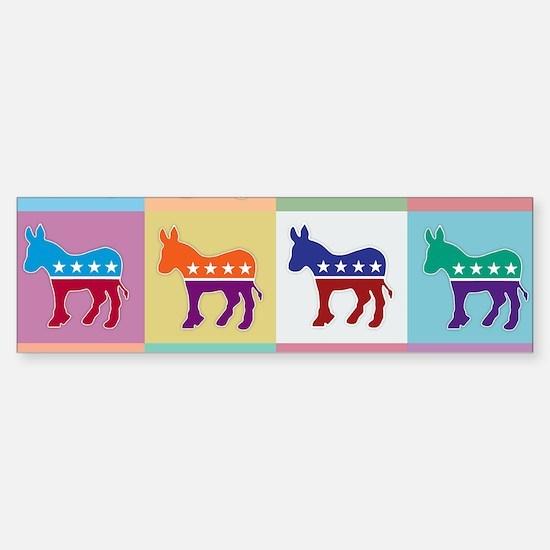 Pop Art Democrat Donkey Logo Bumper Bumper Bumper Sticker