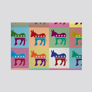Pop Art Democrat Donkey Logo Magnets