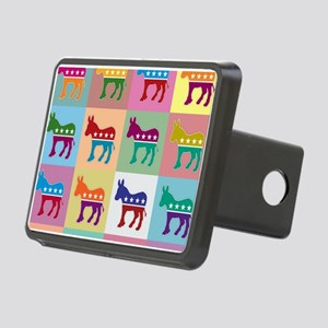 Pop Art Democrat Donkey Lo Rectangular Hitch Cover