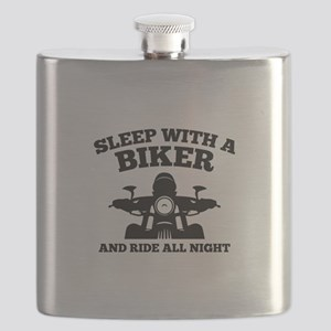 Sleep With A Biker And Ride All Night Flask
