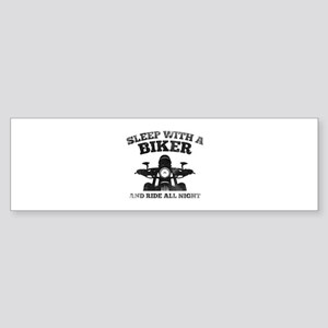 Sleep With A Biker And Ride All Night Sticker (Bum