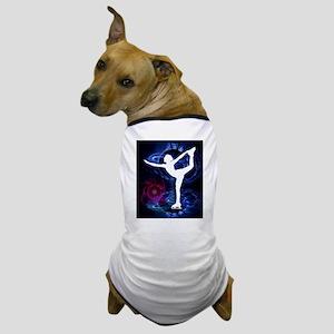 Figure Skater on Technicolor Ice Dog T-Shirt
