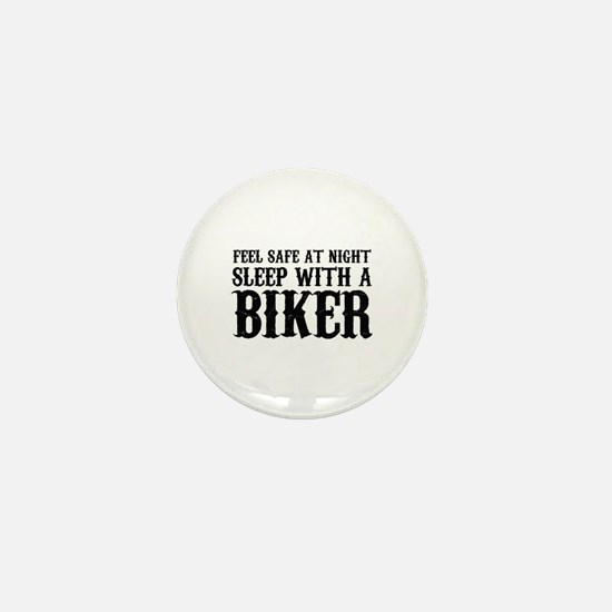 Sleep With A Biker And Ride All Night Mini Button