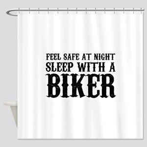 Sleep With A Biker And Ride All Night Shower Curta