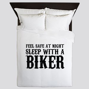 Sleep With A Biker And Ride All Night Queen Duvet