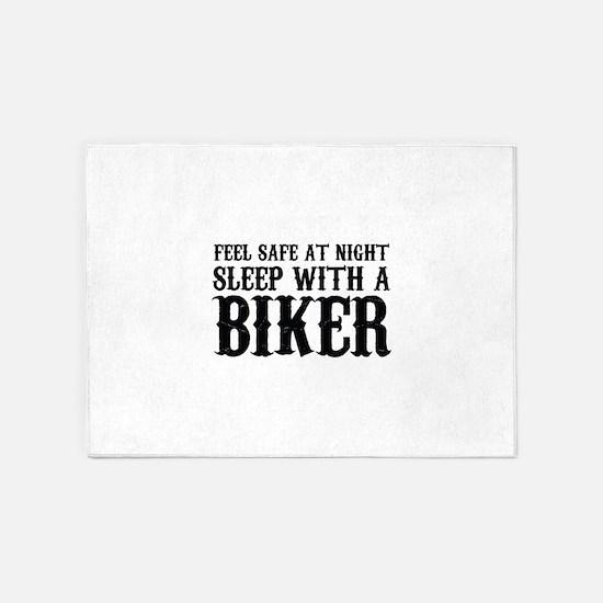 Sleep With A Biker And Ride All Night 5'x7'Area Ru