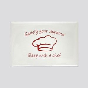 Sleep With A Chef Rectangle Magnet