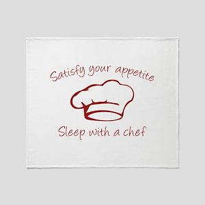 Sleep With A Chef Stadium Blanket