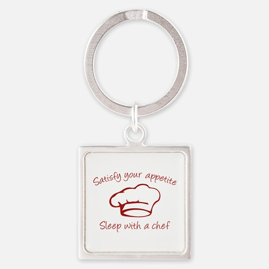Sleep With A Chef Square Keychain