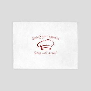 Sleep With A Chef 5'x7'Area Rug