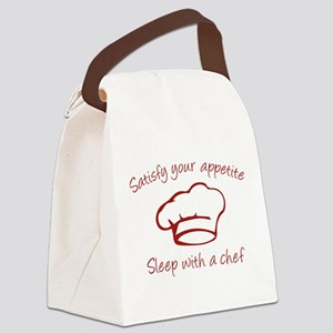 Sleep With A Chef Canvas Lunch Bag