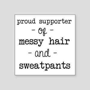 Messy Hair & Sweats Sticker