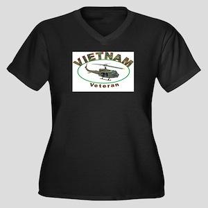 VIETNAM VETERANS CAP Plus Size T-Shirt