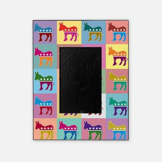 Pop Art Democrat Donkey Logo Picture Frame