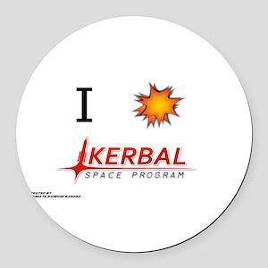 I Love KSP Round Car Magnet