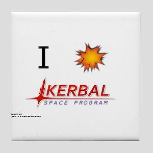 I Love KSP Tile Coaster