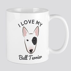 I Love My Bull Terrier Mug Mugs