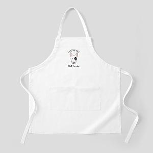 I Love My Bull Terrier Apron