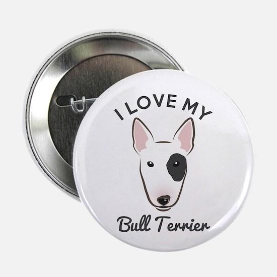 "I Love My Bull Terrier 2.25"" Button (10 pack)"