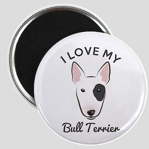 """I Love My Bull Terrier 2.25"""" Magnet (10 pack)"""