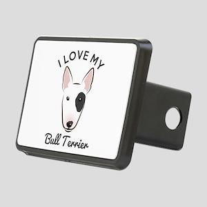 I Love My Bull Terrier Rectangular Hitch Cover