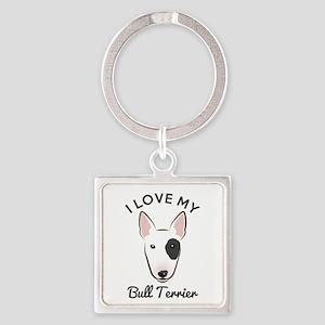 English Bull Terrier Keychains - CafePress db53b3a93936