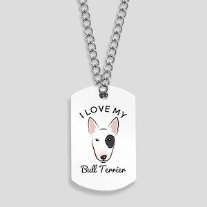 I Love My Bull Terrier Dog Tags