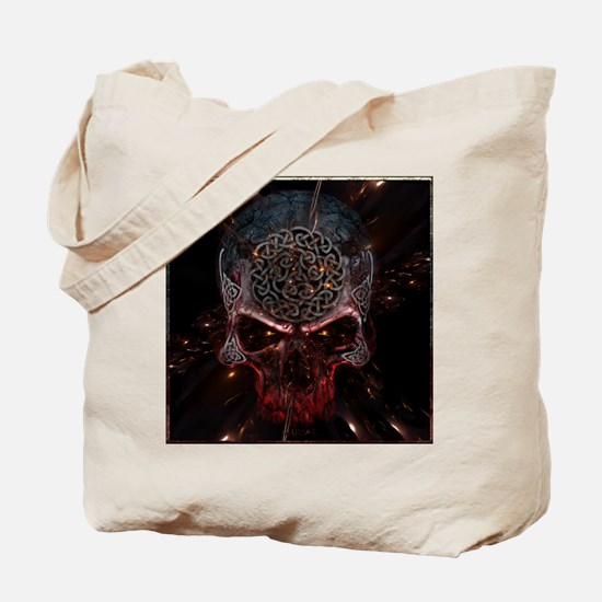 Celtic Skull Gold Space by Bluesax Tote Bag