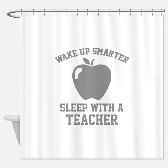 Wake Up Smarter Shower Curtain